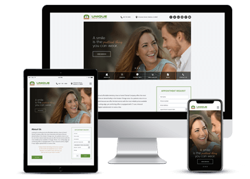 Dental Responsive Website Example by Unique Dental Marketing