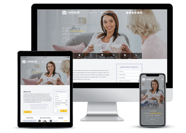 Dental Clinic Responsive Website Example by Unique Dental Marketing