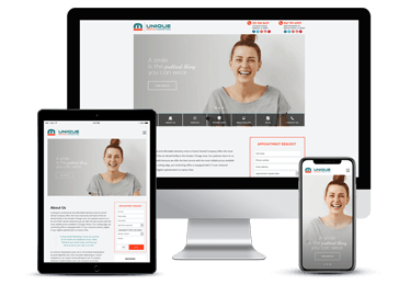 Dentist Responsive Website Model by Unique Dental Marketing