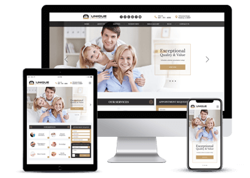 Dental Services Responsive Website Example by Unique Dental Marketing