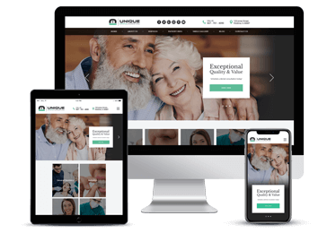 Cosmetic Dentist Responsive Website Example by Unique Dental Marketing