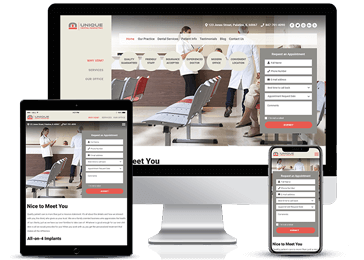 Dental Care Responsive Website Example by Unique Dental Marketing