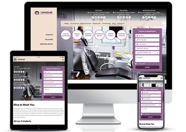 Dental Services Responsive Website Model by Unique Dental Marketing