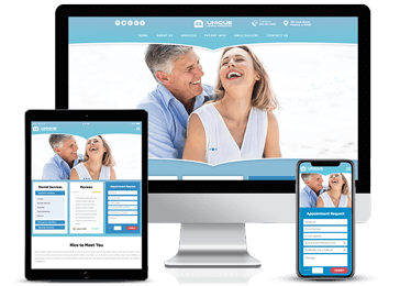 Baby Blue Responsive Web design Example by Unique Dental Marketing