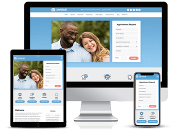 Responsive Website Example by Unique Dental Marketing