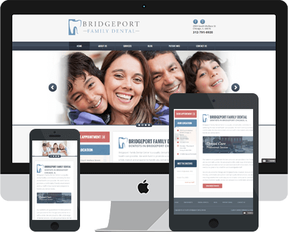 Bridgeport Family Dental Web design Example by Unique Dental Marketing