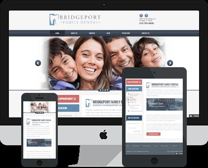 Bridgeport Family Dental Web design Example by Unique Dental Marketing
