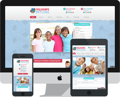 Childrens Dental World Best Web design Example by Unique Dental Marketing