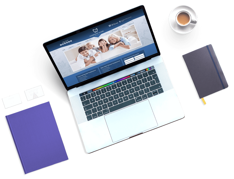 Laptop Website Example by Unique Dental Marketing