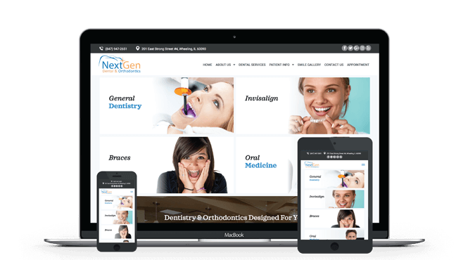 NextGen Responsive Website Model by Unique Dental Marketing