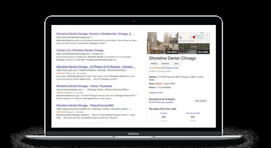 Shoreline Dental Group Google My Business Management by Unique Dental Marketing